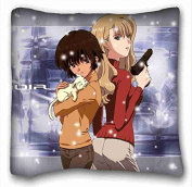 Custom Cotton & Polyester Soft Anime Pillow Covers Bedding Accessories Size 41cm x 41cm suitable for Twin-bed