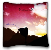 Soft Pillow Case Cover Anime Custom Cotton & Polyester Soft Rectangle Pillow Case Cover 41cm x 41cm (One Side) suitable for California King-bed