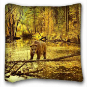 Custom Cotton & Polyester Soft Nature Soft Pillow Case Cover 16*41cm (One Sides)Zippered Pillowcase suitable for Full-bed