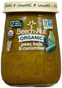 Beech-Nut Just Organic Stage 2 Purees - Pear, Kale & Cucumber - 130ml - 10 pk