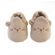ELee Baby Toddler 3D Cartoon Animal Handmade Knit Vamp Soft-sole Non Slip Shoes Slippers