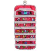 EASYVIEW Shopkin Compatible Organiser Case - Portable Fabric Shopkins Storage
