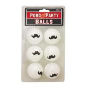 Moustache Beer Moustache Beer Pong Balls, 6 Count