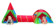 Giga Tent Action Dome and Teepee with Tunnel Play Tent Set