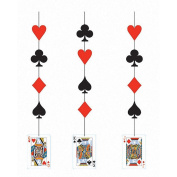 Pack of 18 Card Night Casino Party Printed Hanging Cutout Decorations 90cm