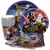 Star Wars Birthday Party Supplies Pack - Star Wars Lunch Plates, Star Wars Dessert Plates, Star Wars Napkins, Star Wars Cups