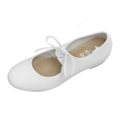 White PU Tap Shoes Low Heel