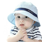 Millya Infant Baby Toddler Solid Brim Stripe Sun Protection Hat 100% Cotton