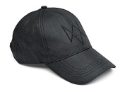 Watch Dogs Embroidered Fox Logo Black Baseball Cap Hat