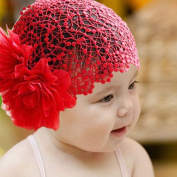 Fairy Season Baby Girls Toddler Lace Headband Hair Bow Accessories red Headwear