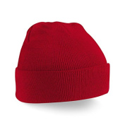 MaSaYa Junior Cuffed Knitted Beanie Hat by Beechfield - Red