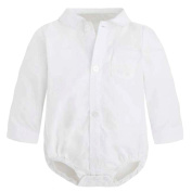 Baby Shirt 5294 Body for Boys - White - Size 62 cm