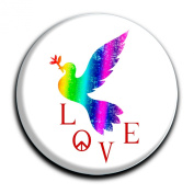 """Magnet in a round shape """"Dove of Peace"""""""
