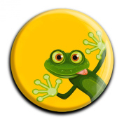 "Magnet in a round shape ""Frog"""