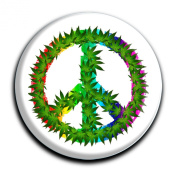 """Magnet in a round shape """"Peace"""""""