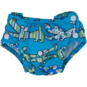 Popolini Swimming Nappy Crocodile Blue
