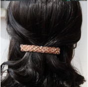Cuhair(tm) Girl Women 1pc 9*1.5cm Four Row Crystal Rhinestone Hair Clip Claw Pin Bangs Clip Accessories
