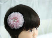 Cuhair(tm) 2pcs pink Lace Flower with Pearl Design for Women Baby Girl Accessories Princess Bb Hair Clips Hairpin Girl Clip Band
