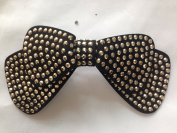 2015 New Fashion About 8cm Women Hair Barretes Black Bowknot with Crystal Rhinesone Design for Women Hair Clip Hair Pin Hair Accessories