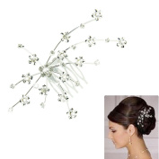 DDLBiz® Silver Personality Gem Crystal Wedding Bridal Princess Jewellery Crown Hair Jewellery Accessories Clip Hair Pins