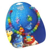 Official Licenced Disney Pixar INSIDE OUT Charm Necklace Joy, Anger, Sadness. Disgust, Fear