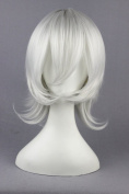 35cm Silver White Colour Short Cosplay Wigs For Allen Walker Of D.Grey-man And Halloween Cosplay