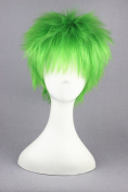 32cm Emerald Colour Cosplay Wigs For Vocaloid /Naruto Cosplay And Halloween Wigs