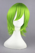 32cm Light Green Colour Stort Cosplay Wigs For Loveless/Bleach And Halloween Cosplay