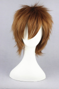 30cm Brown Red Colour Cosplay Wigs For Vocaloid /Naruto Cosplay And Halloween Wigs