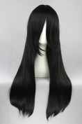 60cm Black Colour Long Cosplay Wigs For Fashion Lady Daily + Bleach/Gin Tama Cosplay + Halloween day Cosplay