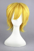 Colden Colour Short Wigs for Ventus Of Kingdom Hearts Cosplay