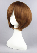 Brown Colour Cosplay Wigs For Hetalia World Series / The Prince Of Tennies /Vocaloid Family