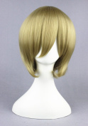 Flaxen Colour Short Wigs For FutA of Gin Tama