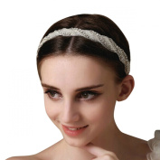 Clearbridal Women's Vintage Beaded Hair Band Headpieces Bridal Hair Accessories 18085