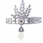 Clearbridal Women's Hair Accessories Pearl Rhinestone Bridal Crown Tiara Wedding Jewlery Headpieces 18067