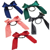 Cuhair(tm)5pcs bow Cloth for Women Kids Children Girl Women Hair Accessories Elastic Tie Ponytail Holders Princess Women Hair Rope Rubber Bands Accessories
