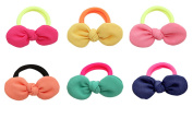 Cuhair(tm)6pcs Cloth for Women Kids Children Girl Women Hair Accessories Elastic Tie Ponytail Holders Princess Women Hair Rope Rubber Bands Accessories