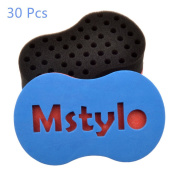 30Pcs Magic Twist Hair Sponge, Afro Braid Style Dreadlock Coils Wave Hair Curl Sponge Brush Small Size