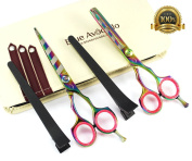 Professional hairdressing scissors, Hair Scissors,multi scissors,thinning scissors, Eye Catching Handles (5.5inch - 14cm) with Presentation Case