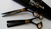 17cm Titanium Professional Hairdressing Barber Salon Scissors, Barber Thinning Scissors Set, Hair Scissors Set+ FREE DOUBLE SCISSOR CASE