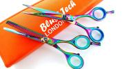 14cm Titanium plasma professional barber scissors Hairdressing & Thinning Scissors salon shears gift pair + FREE DOUBLE SCISSOR CASE