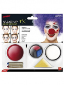 Horror Clown Makeup Kit Halloween white bue red
