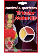 Tricolour Make up red black yellow