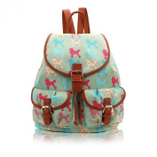 Coloured Poodle Canvas Retro Style Rucksack