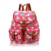 Lovely Birds And Flowers Retro Style Rucksack