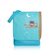 Sleeping Owls Leather Crossbody Bag