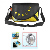 Anime fans Japanese Anime Naruto Shoulder School Bag Messenger Bags + 1pcs Naruto Ring Necklace