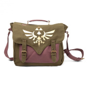 Zelda Bag Golden Triforce Logo Messenger Bag Shoulder Bag Olive Licenced