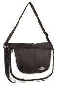 HB-S-01 Black Messenger Unisex School Shoulder Bag with Organiser Section