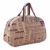 TOOGOO(R) Fashion Waterproof Oxford Women bag Newspaper Pattern Travel Bag Large Hand Canvas Luggage Bags